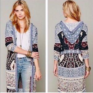 Free People Sweaters - Free people Americana hooded cardigan sweater